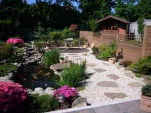 Ansicht eines Gartens