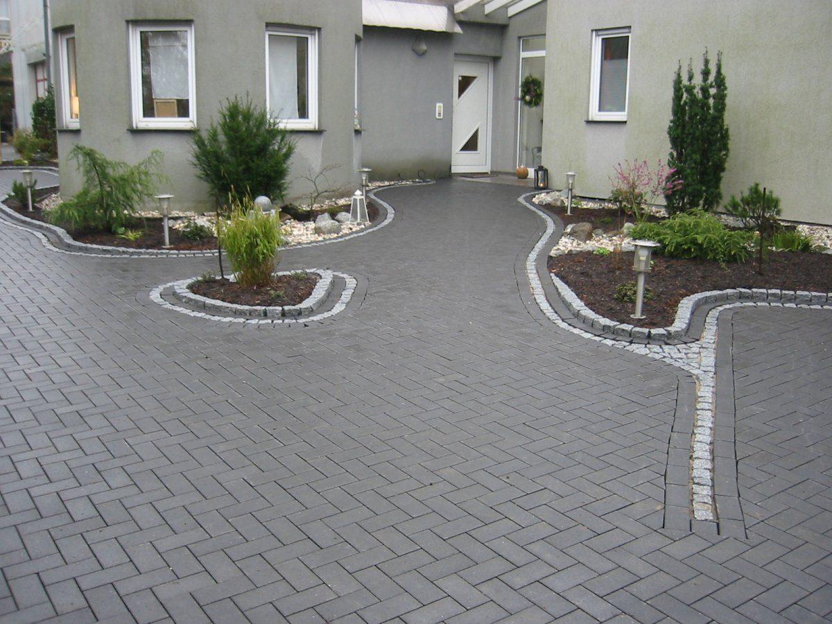 Betonrechteckpflaster mit Granitrahmen | Garten- und Landschaftsbau Patrick Fink ...