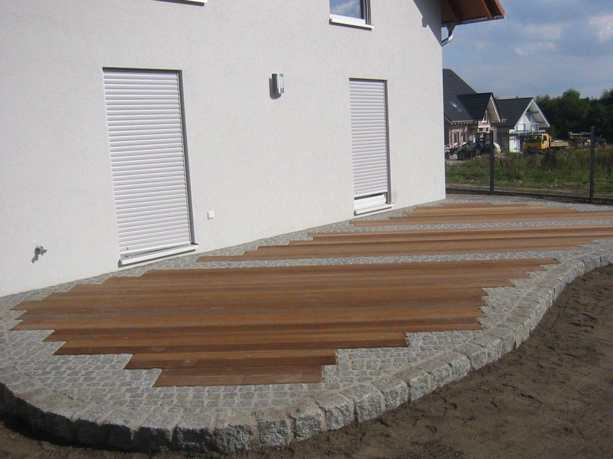 Holzbau garten und landschaftsbau patrick fink for Terrassenbelag stein