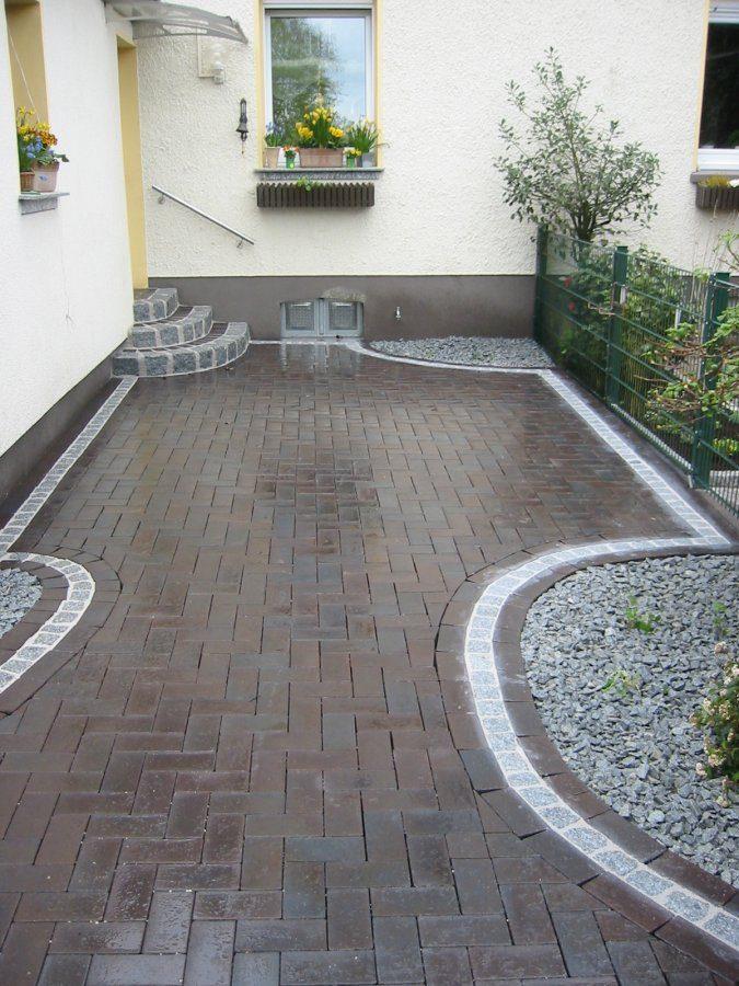 pflasterklinker dresden mit graniteinfassung garten und landschaftsbau patrick fink. Black Bedroom Furniture Sets. Home Design Ideas